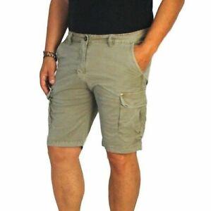 Bermuda-Uomo-Cargo-Pantalone-corto-Tasconi-Pantalone-Casual-Cotone