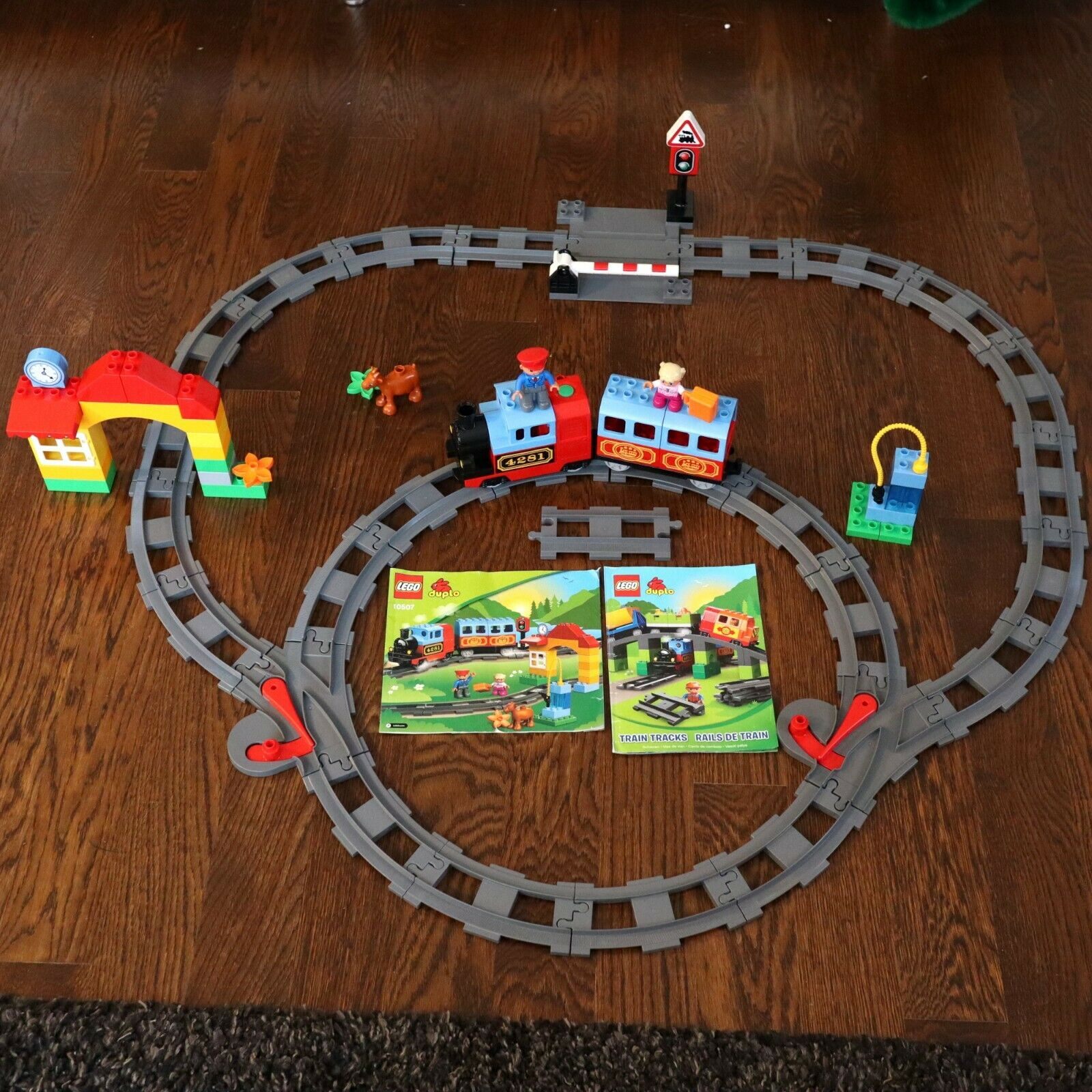 LEGO Duplo 2 Sets Deluxe Train Set 10507 & Track System Accessory 10506 Kit