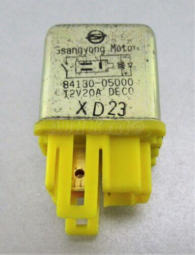 Multi-Use 3-Pin Relay Deco 84130-05000 Korea 12V 20A DX23 734-Ssangyong 95-05