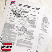 Ammco 9381 Facing Amp Grinding Set Operation Amp Parts Manual Data Sheet