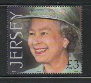 Jersey Sc  988 2001 75th Birthday QE II stamp mint NH