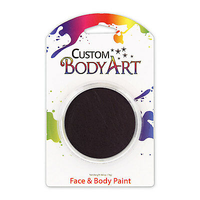 Custom Body Art 18ml Black FACE PAINT Painting Makeup Parties Halloween