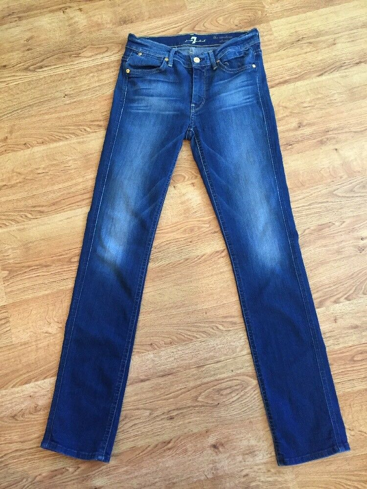 7 For All Mankind NEW  Dark Wash The Modern Straight Jeans Sz 28 NWOT