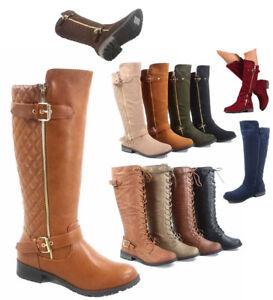 502345802c11 Women s Fashion Zipper Low Heel Riding Knee High Boots Shoes Size ...