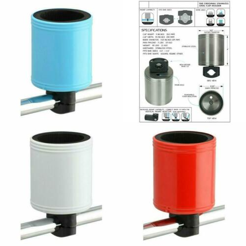 Kroozie Kroozercups 2.0 Bicycle Cup Holder Dual-Screw Clamp Stainless Steel New