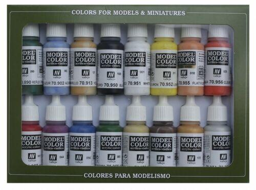x16 VAL70140 Basic Colors USA - AV Vallejo Model Color Set