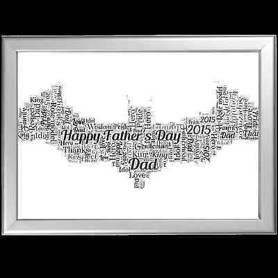 PERSONALISED JOKER BATMAN DC BIRTHDAY BIRTHDAY GIFT DAD DADDY FATHER WORD ART