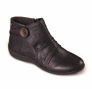 Carnaby Black Boots Wide Warm Zip Extra Ankle Ladies Leather Womens Fit Padders CBdqd