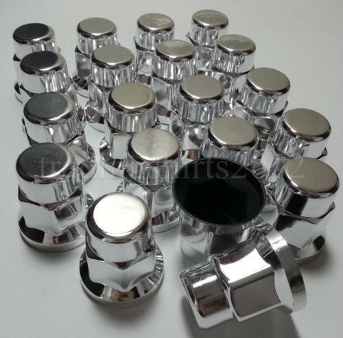 New 60x WHEEL NUT COVER CHROME PLASTIC CAPS BOLT 33mm TRUCK TRAILER LORRY BUS
