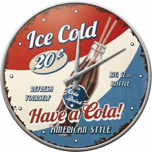 Wanduhr-Have-a-Cola-Nostalgic-Art-31cm