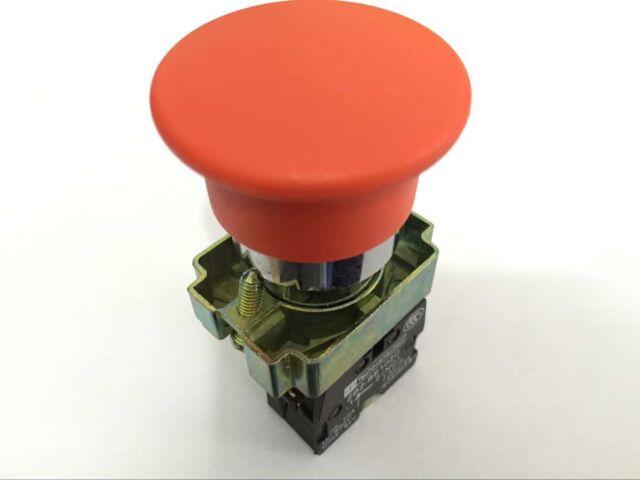 US Stock XB2-BC42C 1 NC Momentary Mushroom Head Push Button Switch N//C Red