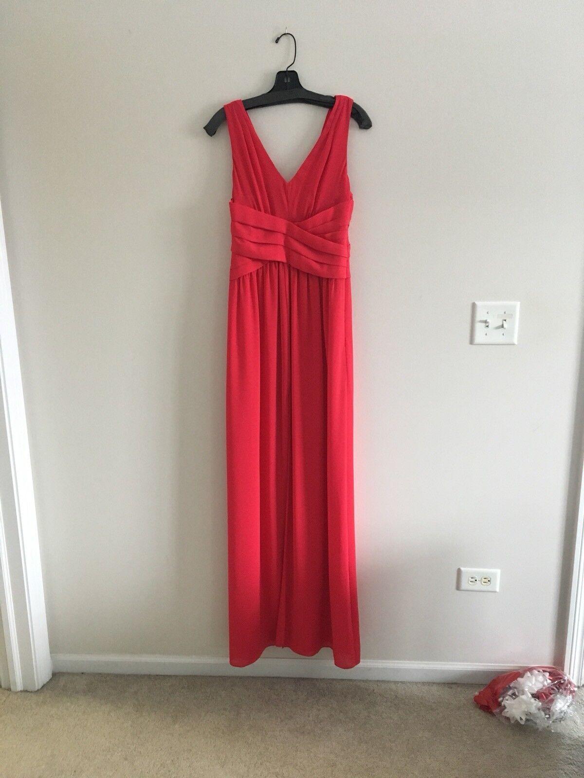 NWT- Parker schwarz damen Glacier rot Shutter Pleat Evening Dress Gown, sz 4