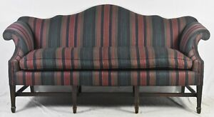 Mahogany-Chippendale-Style-Serpentine-Camel-Back-Sofa-Williamsburg-Style