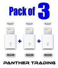 IPhone 6 Plus 6 5S IPad Mini Air IPod Lightning To Micro USB Adapter UK STOCK