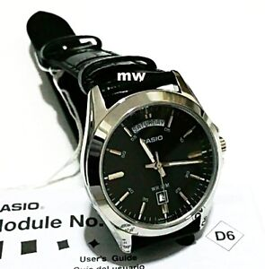 871fa30ae88 CASIO MEN S ANALOG WATCH BLACK LEATHER Day Date Classic MTP1370L MTP ...