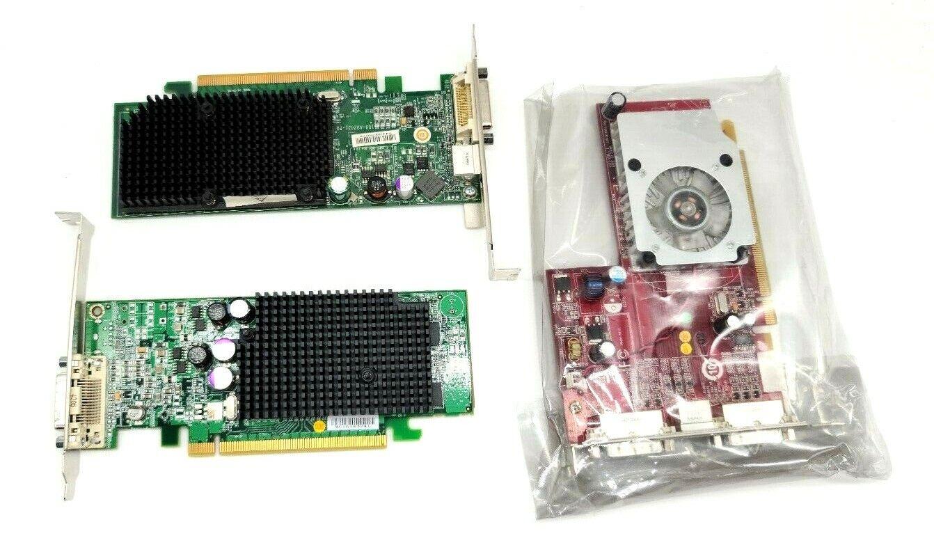 *LOT OF 3* Miscellaneous DVI PCI-E Low Profile Video Cards - UNTESTED
