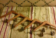 "FIVE(5)8""Wood Hangers W/Clips-Made To Fit-16-20""American Girl-My Twinn Dolls etc"