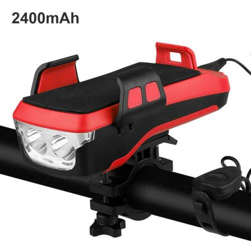 Bicycle Mobile Phone Holder Rack Rechargeable Multi-functional Bicycle Lamp