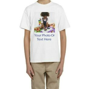 PROMO-Custom-Personalized-T-Shirts-Photos-or-text-on-T-shirt-CLEARANCE-FOR-KIDS