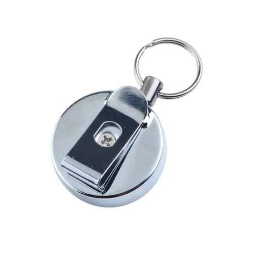 2X Anti-verloren Edelstahl Schlüsselanhänger Sicherheit Schlüsselring Dehnbar