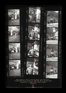 Muhammad ALI FILM strisce 13x19 incorniciato DEGREASER POSTER più grande campione del mondo NUOVO