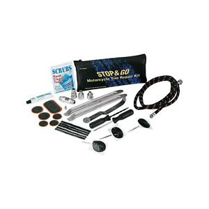 Details about Stop & Go Deluxe Motorcycle Scooter Tyre Repair Kit Tube & Tubeless Type New