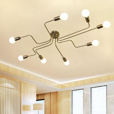 Steampunk Polish Ceiling Light Modern Semi Flush Mount Chandelier Ebay