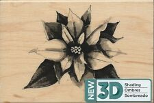 "3D Shading ""Elegant Poinsettia"" Rubber Stamp by Spellbinders"