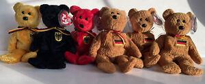 Ty Beanie Baby - GRAF VON ROT / PRINZ VON GOLD / FREIHERR VON SCHWARZ / GERMANIA