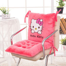 "Hello Kitty Seat Back Cushion Chair Car Office Cushion Pillow 15.7"" Rose Red"