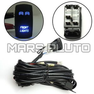 led light bar laser rocker switch relay wiring harness kit for utv image is loading led light bar laser rocker switch relay wiring