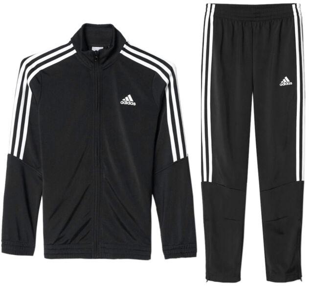 innovative design a375c 43b59 Adidas Boys Kids Tiro Poly Full Tracksuit Jacket Top Slim Skinny Bottoms  Pants
