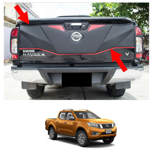 Rear Tailgate Outer Lid Cover Matte Black Red Fits Nissan NP300 Navara 14 15 17