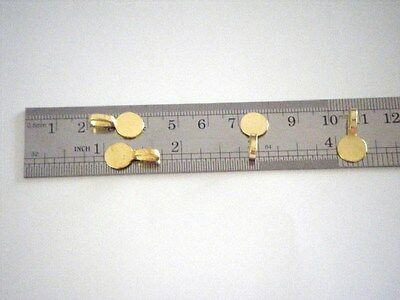 50 ROUND GOLD PLATED GLUE ON BAILS R GREAT FOR BOTTLE CAP NECKLACES