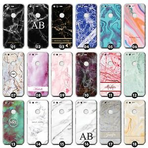 new concept 6b892 a90a5 Personalised Marble Phone Case/Cover for Google Pixel Nexus Initial ...
