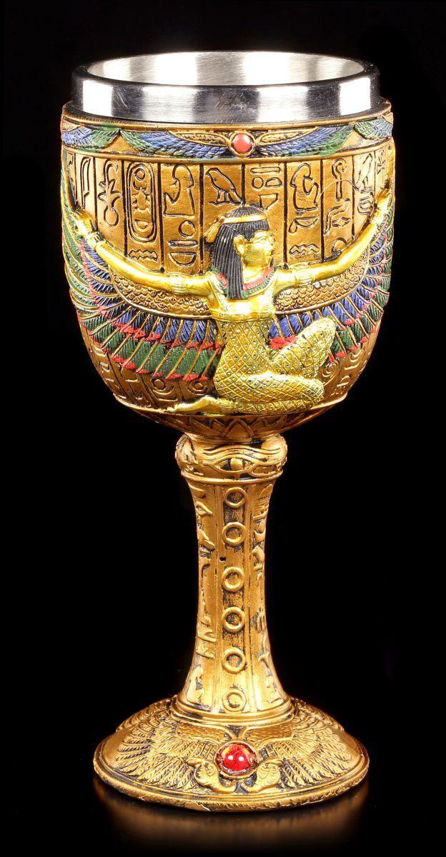 Cáliz- Egipcio Diosa Isis - Decoración Egipto Figura