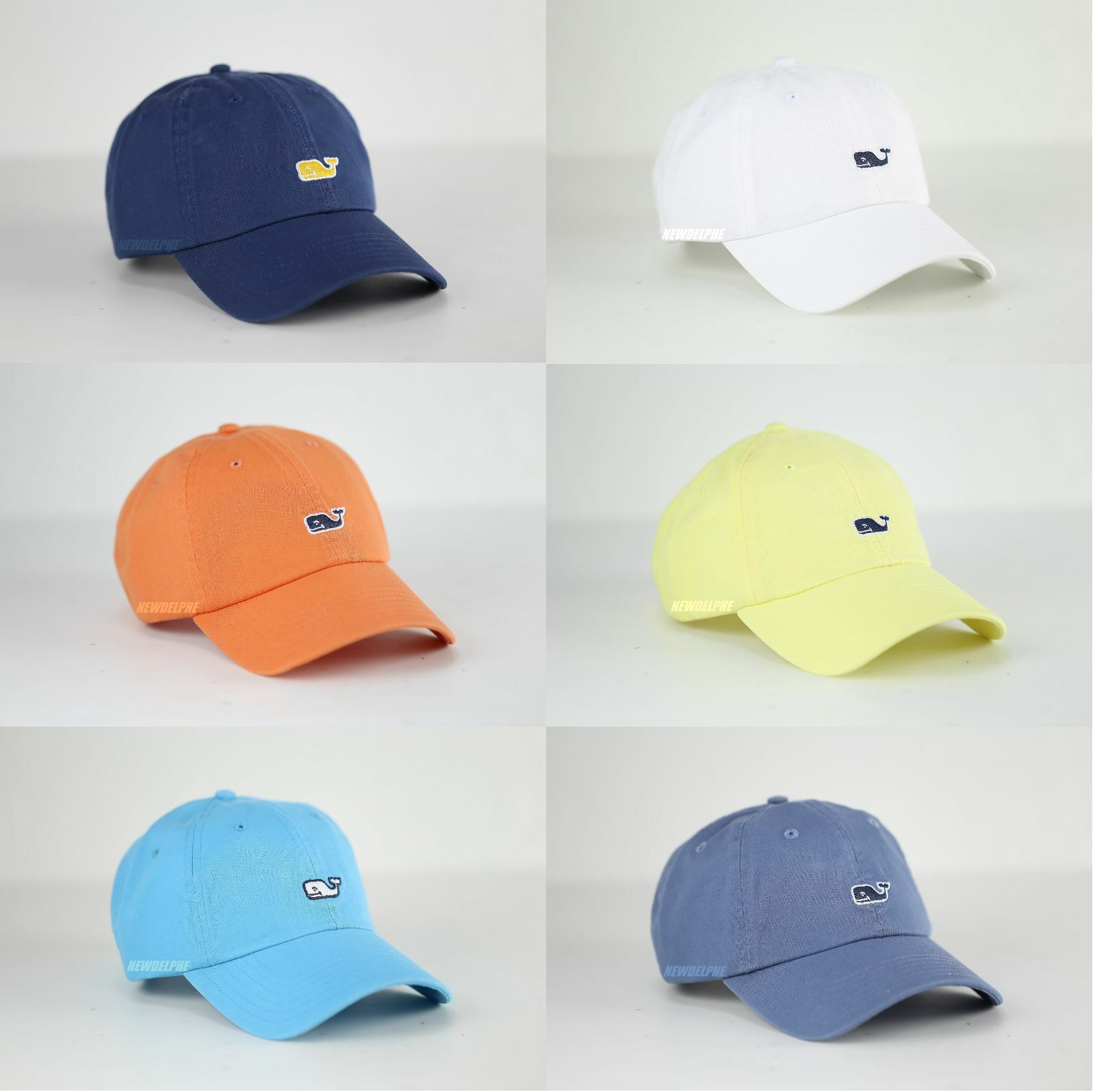 cbc19b8131332 Vineyard Vines Whale Logo Baseball Hat Golf Cap Cabana Orange Navy for sale  online