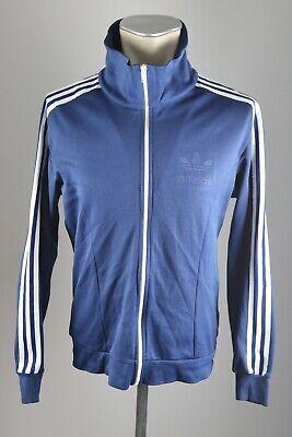 Adidas Vintage Uomo 80er 80s Giacca Track Jacket Blu Giacca Training Taglia D 4 Aj6-mostra Il Titolo Originale Lustro Incantevole
