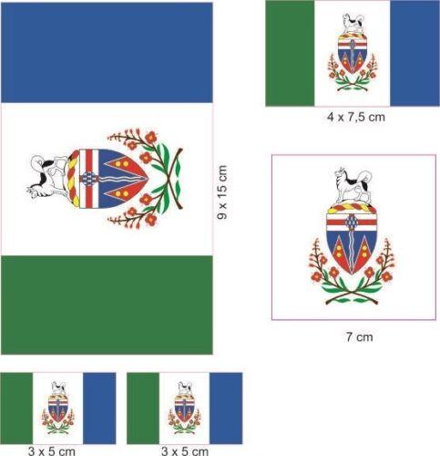 Aufkleberbogen Yukon Aufkleber Set Flagge Fahne