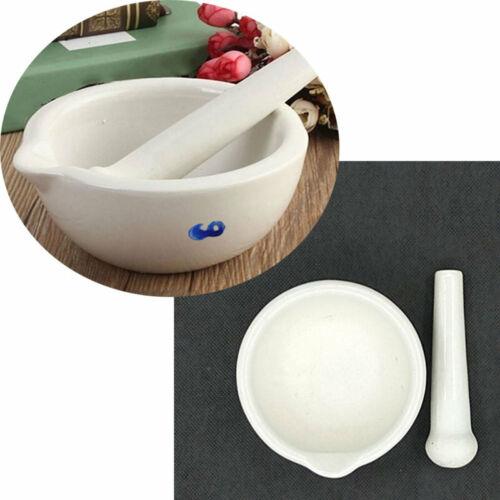 Blanc Garniture réel Porcelaine Mortier et Pilon Mélange Broyage Bol Tool