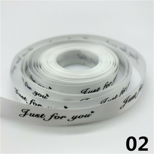 5yards 10mm Polyester Ribbon Printed Just For You Handmade Romantic Ribbon