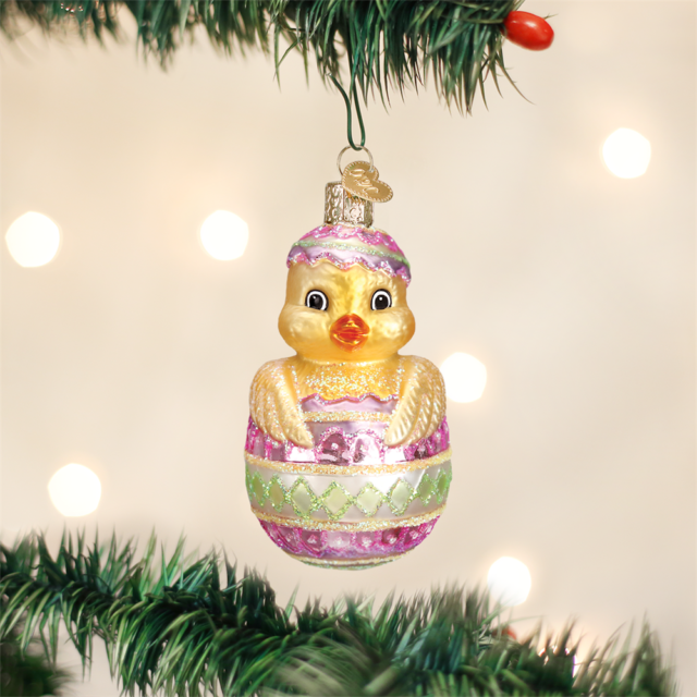 OLD WORLD CHRISTMAS EASTER CHICK GLASS EASTER CHRISTMAS ORNAMENT 16103