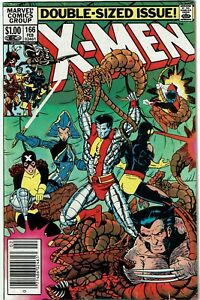 Uncanny-X-Men-166-1st-appearance-of-Lockheed-Newsstand-FN-VF