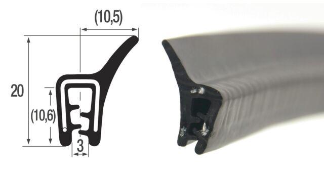DF2 - 20m Kantenschutz mit Dichtung oben Dichtungsprofil Kofferraum Gummi EPDM