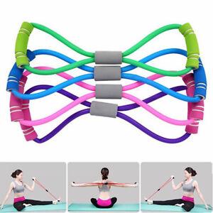 Useful Womens Fitness Equipment Tube Exercise Elastic Resistance Band For  Yoga   eBay