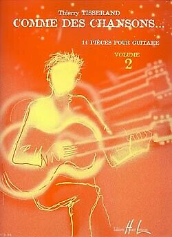 Comme Des Chansons 2  Guitar  Tisserand Book with CD LEM27711