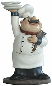 """George S. Chen Imports SS-G-65003 Chef Holding Plates Figurine, 10.75"""""""