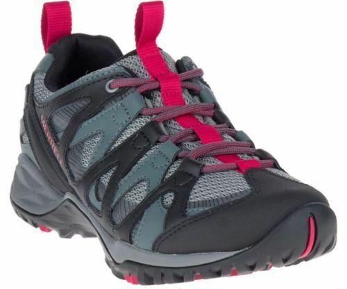 Ladies Merrell Leather Lace Up Walking Trainers Siren Hex Q2