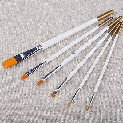 6Pcs Professional Art Painting Brushes Set Acrylic Oil Watercolor Paint Brush