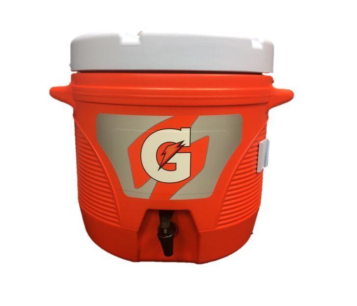 Official Gatorade 7 Gallon Cooler with Cup Dispenser & Gatorade Stirring Paddle